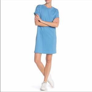 Madewell blue t-shirt dress